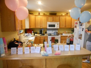 Our Voting Table at our Gender Reveal Party